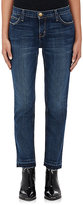Current/Elliott Women's Cropped Straight Jeans-BLUE