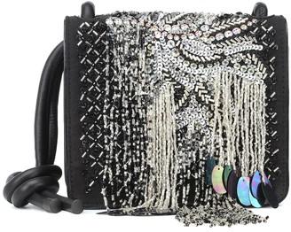 Dries Van Noten Sequined leather shoulder bag