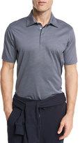 Ermenegildo Zegna Circle-Print Polo Shirt, Navy