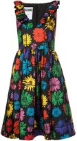Moschino V-neck floral print dress - women - Silk/Spandex/Elastane/Rayon - 40