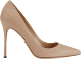 Sergio Rossi Godiva Nude Leather Pointy Toe Pumps