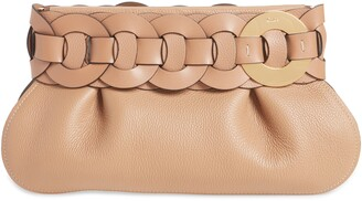 Chloé Darryl Leather Clutch