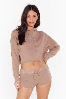 Nasty Gal Womens Warm Heart Knitted Jumper and Shorts Set - brown - 8