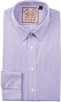 Thomas Pink Super Octavious Slim Fit Stripe Dress Shirt