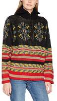 Scotch & Soda Maison Women's Jacquard Anorak Knit Pullover Jumper