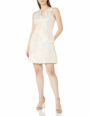 Ronni Nicole Women's Sleevless Jaquard Fit and Flare Party Dress