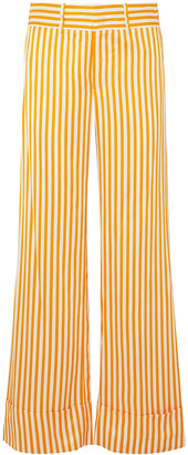 Maggie Marilyn Striped Twill Wide-leg Pants