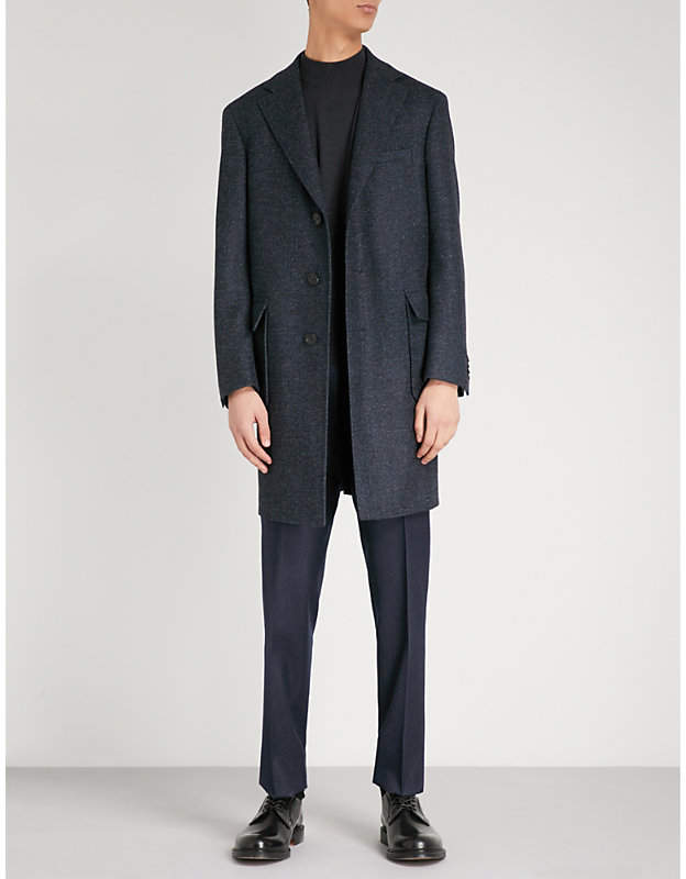 Canali Kei-fit wool coat