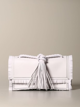 Valentino The Rop Bag In Leather With Fringes
