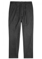 Acne Studios Charcoal Wool Blend Felt Trousers