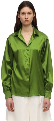 Lesyanebo Silk Satin Shirt