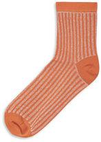 Topshop Stripe Glitter Ankle Socks