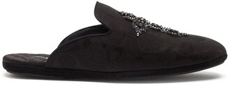Dolce & Gabbana Young Pope cross-embroidered slippers
