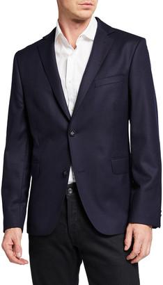 Officine Generale Men's Solid Wool Flannel Blazer