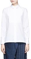 Sacai Belted pleat back poplin shirt