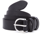 Paul Smith Men's PS Leather Double Keeper Belt Black