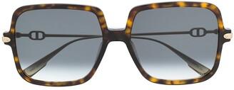 Christian Dior Square Tortoiseshell Sunglasses