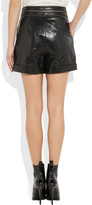 Karl Lagerfeld Sanna glossed-leather shorts