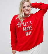Asos Christmas Jumper With 'let's Make Out' Slogan