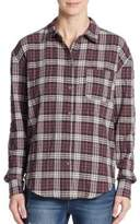 Elizabeth and James New Carine Plaid Blouse