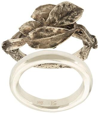 Werkstatt:Munchen Double Leaf Ring