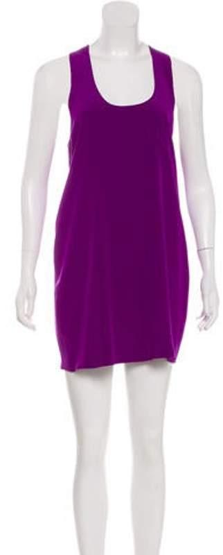 Alexander Wang Silk Mini Dress Purple Silk Mini Dress