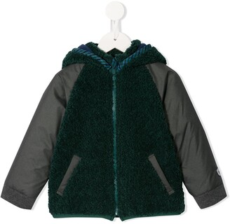 Familiar Dual Texture Zipped Jacket