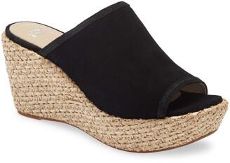 Johnston & Murphy Addy Espadrille Wedge Platform Slide Sandal