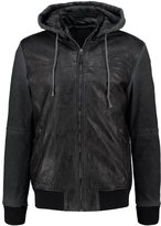 Desigual Faux Leather Jacket Jet Black