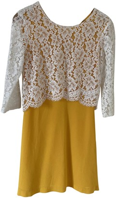 Sandro Spring Summer 2019 Yellow Lace Dresses