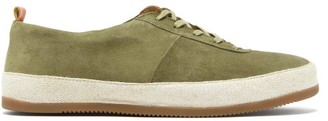Mulo - Panelled Suede Trainers - Khaki