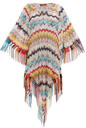 Missoni Mare - Lace-up Zizag-knitted Cover Up - Multi