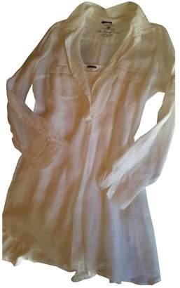 Ikks White Linen Dress for Women