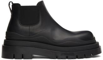 Bottega Veneta Black Low Tire Chelsea Boots