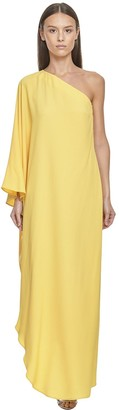 Taller Marmo Asymmetric Silk Blend Maxi Dress