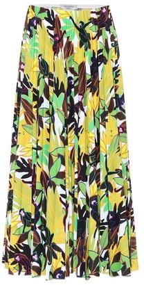 Valentino Cotton-poplin midi skirt