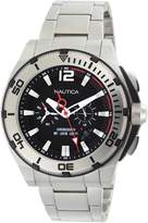 Nautica NMX 150 Steel Chronograph Black Dial Men's watch #N31517G