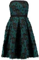 Saloni Anina Strapless Fil Coupé Chiffon Dress