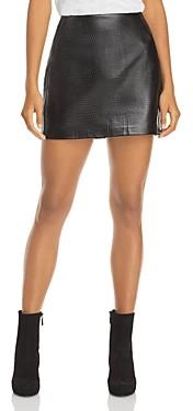Aqua Croc Embossed Mini Skirt - 100% Exclusive