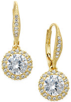Eliot Danori 18k Gold-Plated Round-Cut Cubic Zirconia Drop Earrings (2 ct. t.w.)