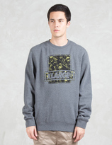 XLarge Camo Fill Crewneck Fleece Sweatshirt