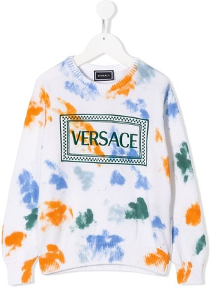 Versace Tie-Dye Knitted Jumper
