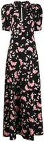 VIVETTA butterfly-print long dress