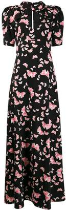 VIVETTA butterfly-print long dress