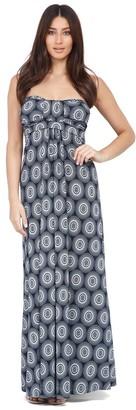 M&Co Izabel geo print bandeau maxi dress