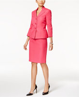 Le Suit Stand-Collar Jacquard Skirt Suit
