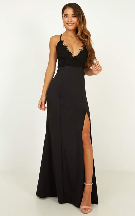 Showpo The Icon Maxi Dress in black - 6 (XS) Dresses