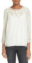 Joie 'Gaiane' Eyelet Embroidered Top