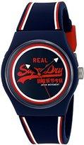 Superdry 'Urban Retro' Quartz Plastic and Silicone Dress Watch, Color:Blue (Model: SYG198UR)