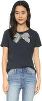 Chinti and Parker Stripe Bow Print Tee